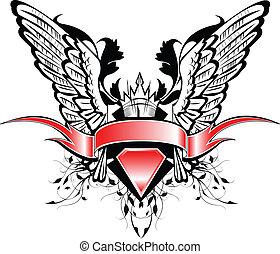 spandoek, vleugels