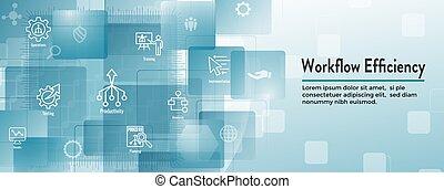 spandoek, werkingen, uitwerken, enz., workflow, pictogram,...