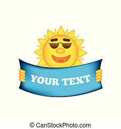 spandoek, zomer, vrolijke , zonnebrillen, zon