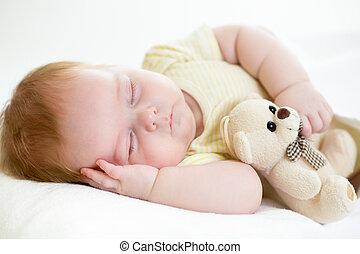 spanie, niemowlę, nowo narodzony