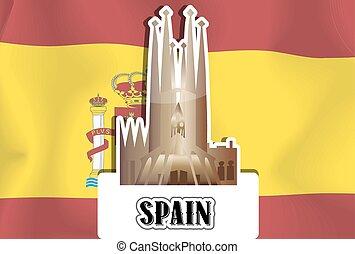 spanien, illustration