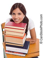 spanisch, buecher, hochschule, feundliches , schueler