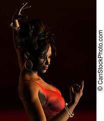 spanischer , flamenco tänzer 1