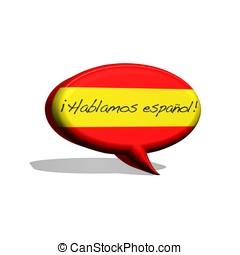 spanish., 話す
