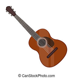 Spanish Acoustic Guitar Icon In Cartoon Style Isolated On White Background Spain Country Symbol Stock