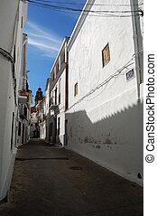 Spanish architecture in Chulilla - Valencia (Spain) -...