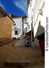Spanish architecture in Chulilla - Valencia (Spain) -...
