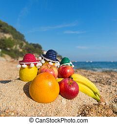 Spanish assortment fruit at the beach