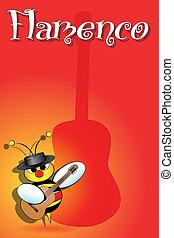 Spanish bees with flamenco guitar - Flamenco Spanish bee...