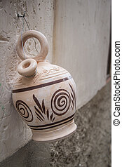 Spanish botijo, traditional clay pot jug to keep fresh water in Spain