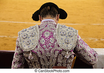bullfighter - Spanish bullfighter seen from behind