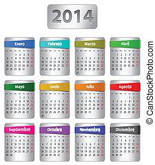 Spanish calendar 2014