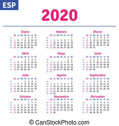 Calendario Rosa 2020.November 2020 Calendar Page Vector Cartoon Illustration