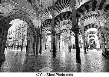 (spanish, cattolico, cordoba, mezquita, moschea, romano, situato, mosque), andalusian, città, codoba, cattedrale, precedente, spagna