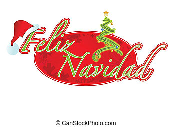 Spanish Christmas sign illustration