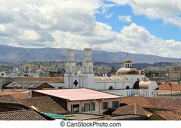 Spanish Colonial Catholic Christian Church, Latacunga, Ecuador