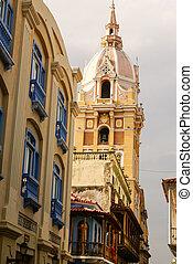 Spanish colonial house. Cartagena de Indias, Colombia's Caribbean Zone
