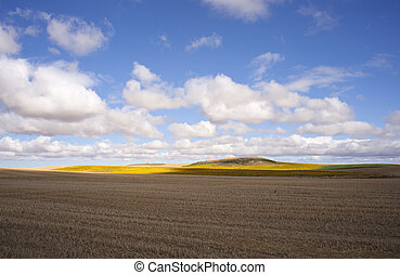 Spanish countryside - View of Spanish countryside in the...