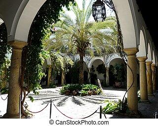 Courtyard at the Palacio de Viana in Cordoba, Spain