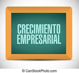 spanish., croissance, tableau, affaires signent