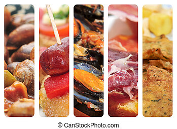 spanish cuisine collage
