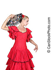 Spanish dancer with hand fan