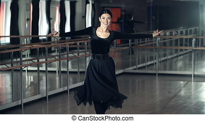 Spanish Dances - Pretty dancer performing Spanish dance