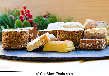 Spanish different Christmas sweets