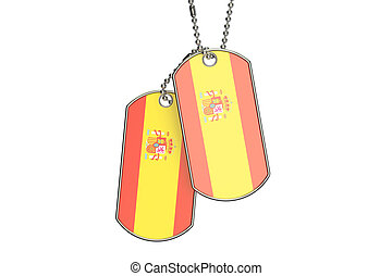Spanish Dog Tags, 3D rendering