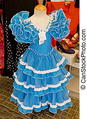 Spanish dress, Cordoba, Andalusia, Spain