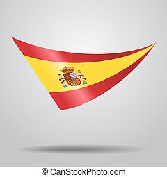 Spanish flag background. Vector illustration.
