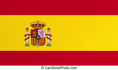Spanish Flag Curtain Opening. Green Screen. Alpha Channel. ...