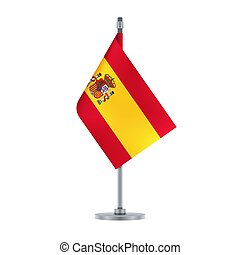 Spanish flag, flat layout, vector illustration