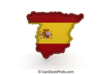 spanish flag - illustration of the concept of the Spanish...