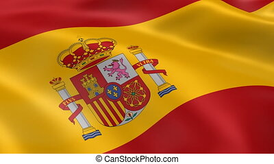 Spanish flag in the wind