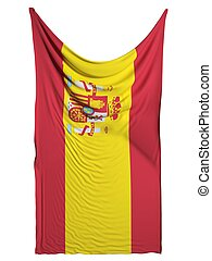 Spanish flag on white background
