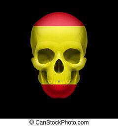 Spanish flag skull