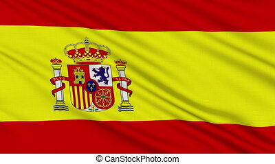 Spanish flag, with real structure of a fabric