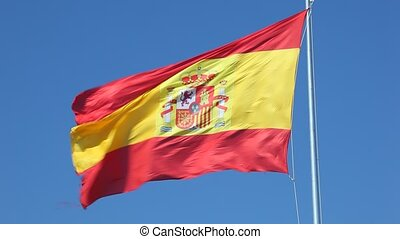 Spanish flag - Spanish national flag waving in the wind