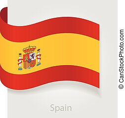 Spanish flag, vector illustration