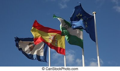 Spanish flags - Flags of Andalusia, Malaga, Spain and...