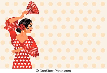 Spanish flamenco girl invitation