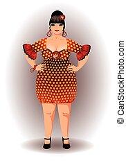 Spanish flamenco woman vector