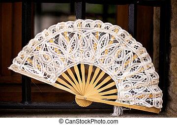 Spanish Folding Fan in Cantabria, Spain