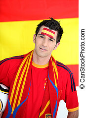 Spanish football fan