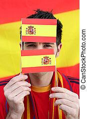 Spanish football supporter