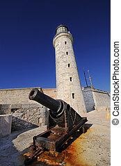 Spanish fortress El Morro in Havana, Cuba