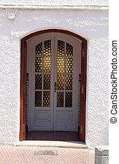 spanish front entrance door