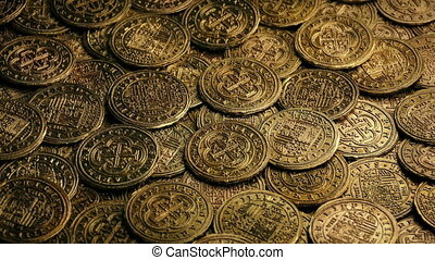 Spanish Galleon Coins Rotating