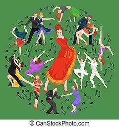 Spanish girl flamenco dancer in red dress, spanish beautiful dance, happy sexy woman dancing flamenco